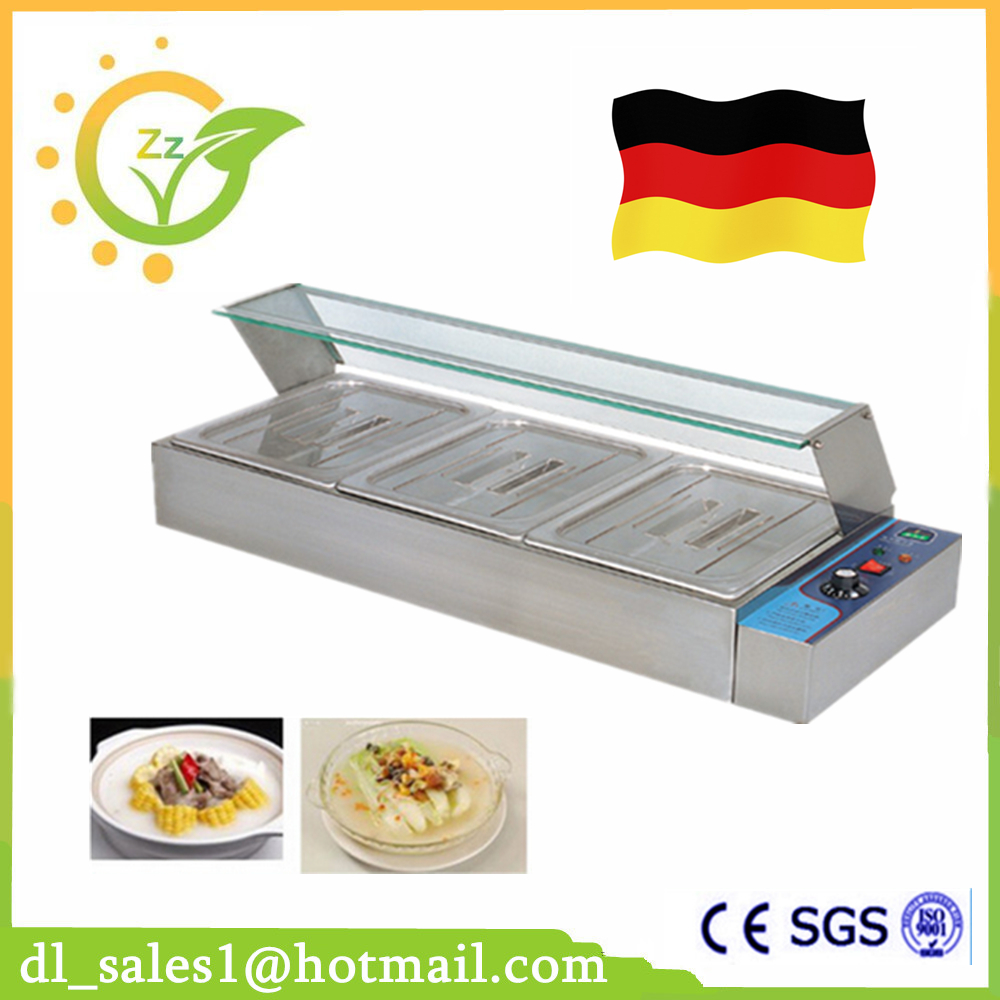 Kitchen Appliance 220V Commercial Countertop Electric Bain Marie Restaurant 3 Pans Electric Bain Marie