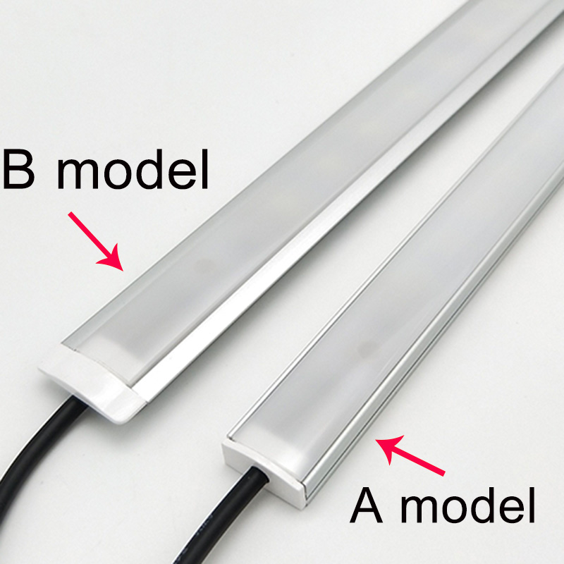 Image 2 - 2pcs dimmable under cabinet strip lighting7020 7030 9W 50cm touch switch control Kitchen led  b DC12V rigid Strip-in LED Bar Lights from Lights & Lighting