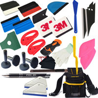 Professional Vinyl Wrap Tool Kit Bag Combo Squeegee Utility Razor Magnets Cutter