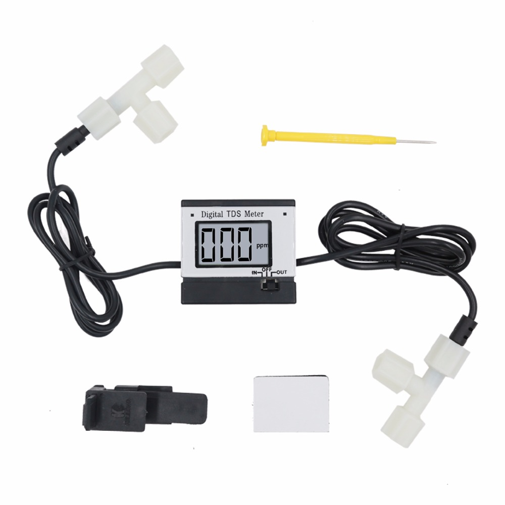 Wide screen display LCD digital tds meter 0~ 1999 ppm water quality tester for Aquarium with Automatic Temperature Compensation 0 1000 ppm pen type tds meter pocket digital tds water quality analysis laboratory electrical lcd ppm value temperature tester