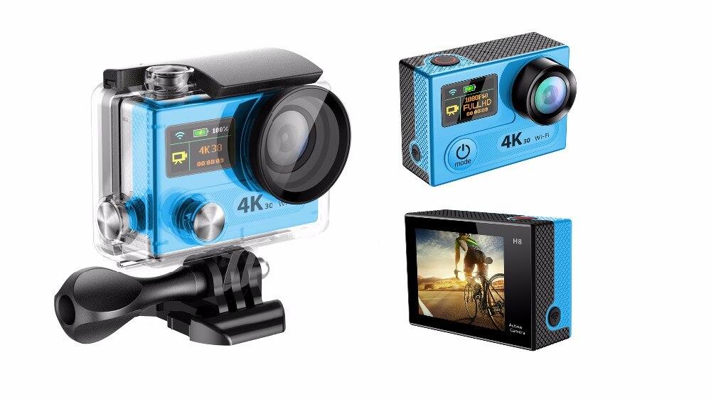 170D de visión amplio fisheye lente mini cámara del deporte de acción H8pro 4 k