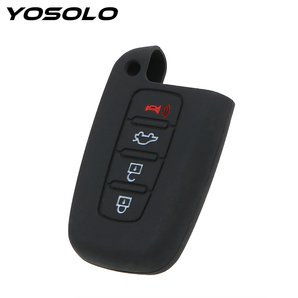 YOSOLO For HYUNDAI Elantra Sonata Veloster For Kia Soul Sportage Remote Smart Fob Cover Auto Accessories Car Key Case Shell