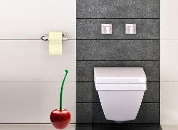 Rode Accessoires Badkamer : 1 st mooie rode kers toiletborstel met borstel houder toilet