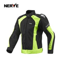NERVE NEW Titanium alloy summer breathable motorcycle riding suits motorcycle riding jacket mesh CE certification S 3XL