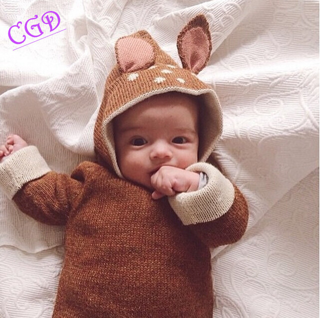 Retail Girl Sweater Winter 2015 Casual oeuf nyc Children Knitwear Deer Jumper Kids Knitted Clothing girls sweater Q24