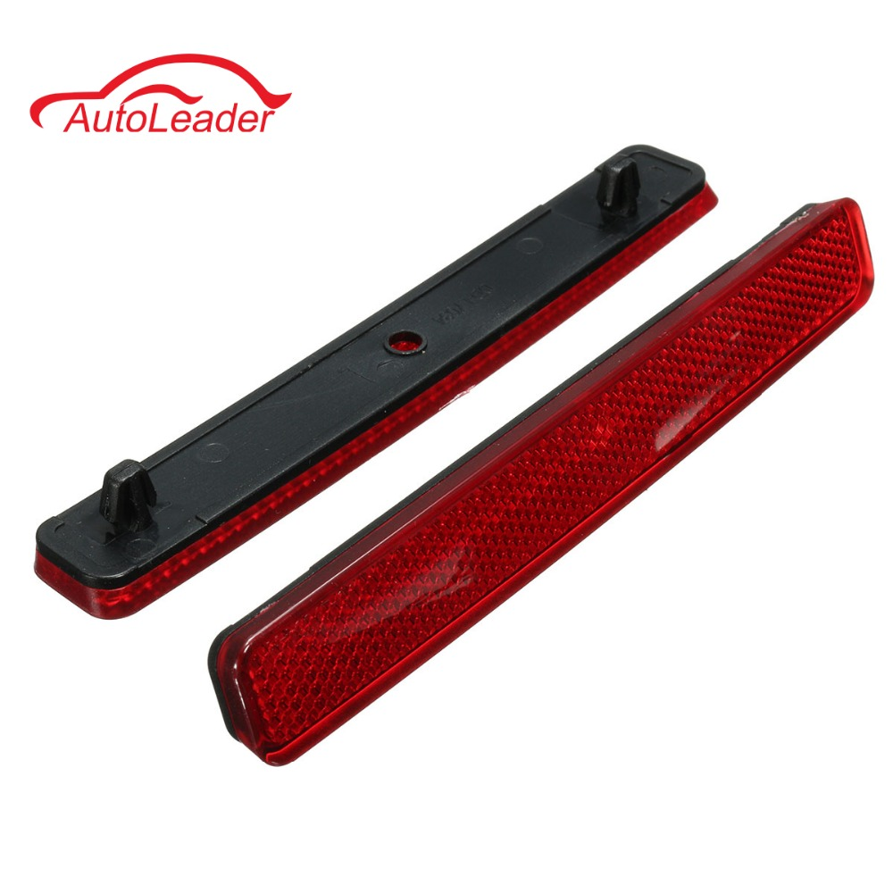 Pair Red Rear Left & Right Bumper Reflector Tail Light Bars Brake Parking Warning For VW /Volkswagen /Transporter T5 free shipping tail light parking warning rear bumper reflector for kia k2 car styling