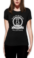Pop Cotton Man Tee Short Sleeve Top Crew Neck Womens Pi Day Once In A Century March 14, 2015 Math Geek The Ultimate T Shirt