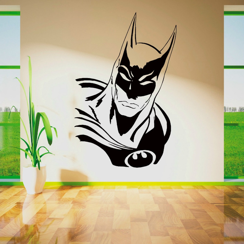 achetez en gros super h 233 ros stickers muraux en ligne 224 des wall stickers super heros red and cat