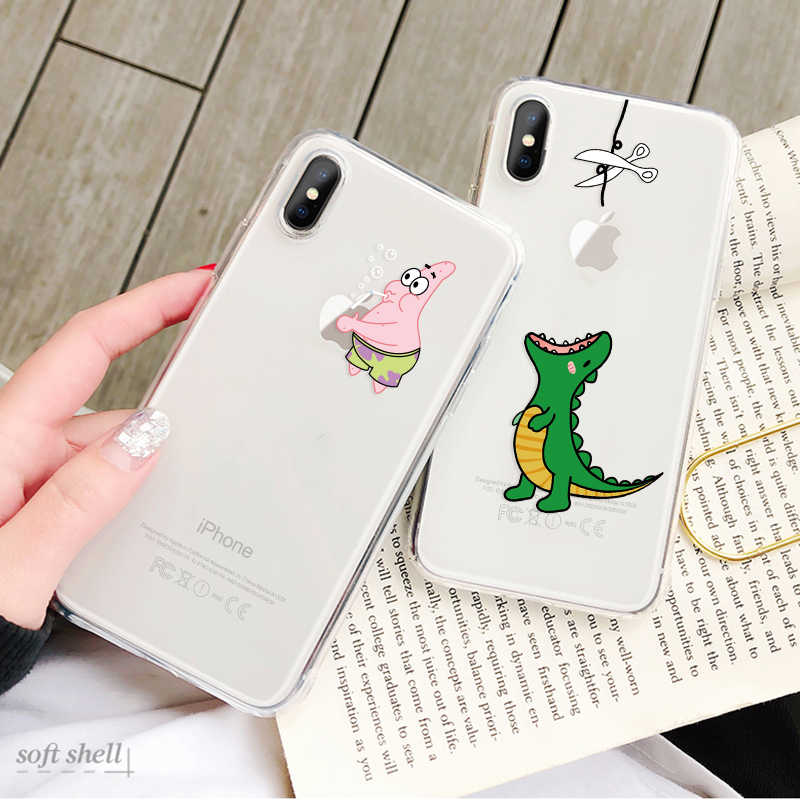 Cute cartoon Transparent Snow White Soft TPU Silicone Phone Back Cover Case For iPhone XS Max X XR 7 8 Plus 6 6S Plus 5 5S SE