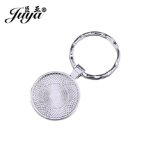 JUYA Metal Key Keychain Pendant Tray 10pcs/lot Cheap Zinc Alloy Bezel Blank for 25mm Cameo Glass Cabochon Base Setting AD0211 mibrow 10pcs lot stainless steel 8 10 12 14 16 18 20mm blank french lever earring tray cabochon setting cameo base jewelry