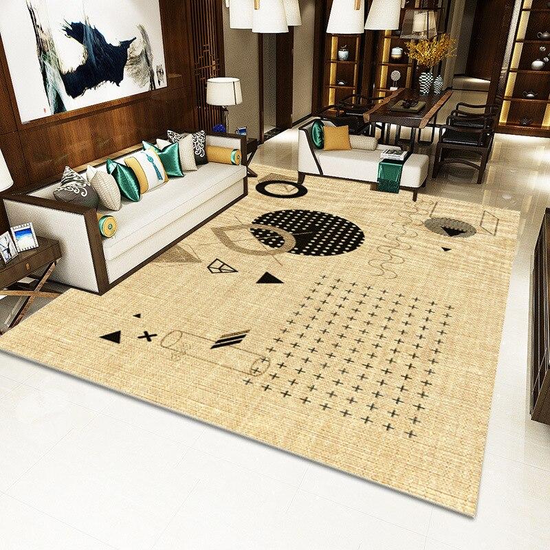 Moderne minimaliste salon tapis nordique ins motif géométrique tapis de sol maison tapis salon sol tapis - 4