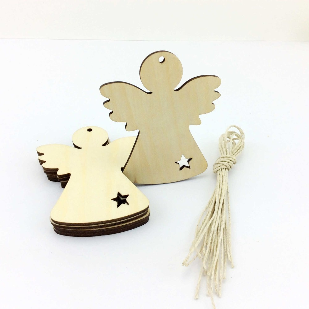 wood angel wings christmas ornament-in Pendant & Drop Ornaments from ...