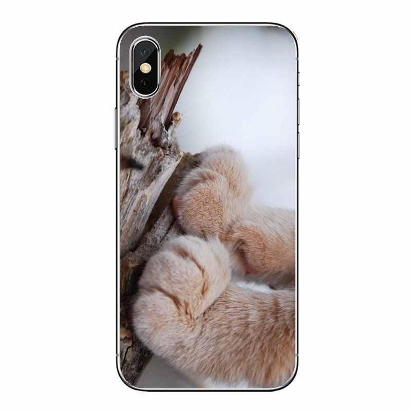 Untuk Huawei Kehormatan 8 8C 8X9 10 7A 7C Mate 10 20 Lite Pro P Smart Plus Kucing cakar Hewan Seni Cetak Poster TPU Transparan Case Cover