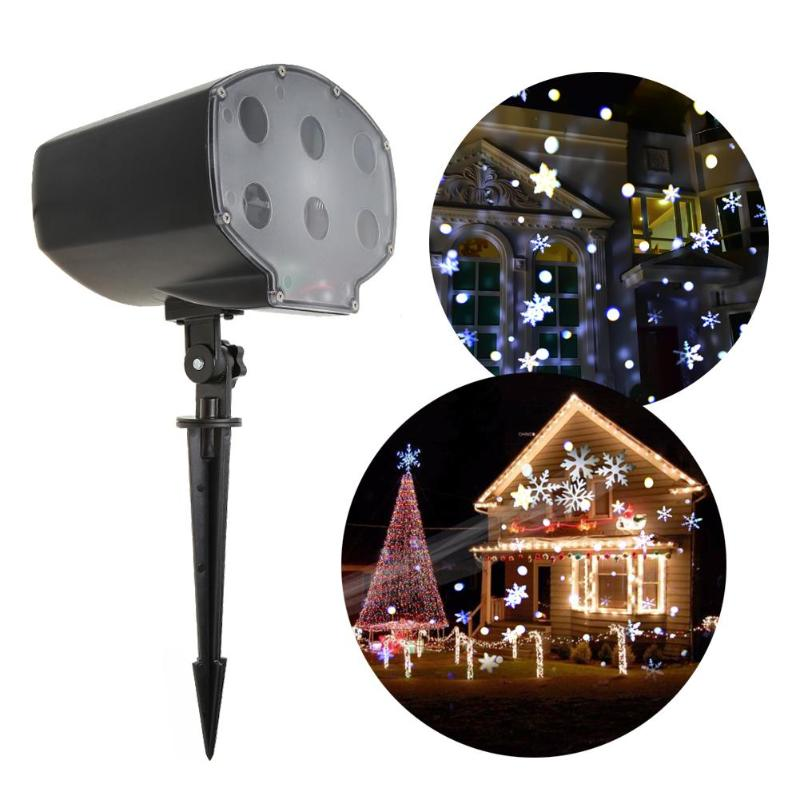 Remote Control Outdoor Garden Christmas 6LED Snowflake Projector Light Waterproof Xmas Decor Lamp Stage Fairy Lights Party Lamps цена