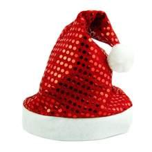Bling brillante paillettes decoración de adultos Navidad sombrero Navidad  decoración (rojo) 07a610dc1cd