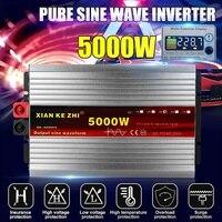 Intelligent 5000W Pure Sine Wave Inverter DC 12/24/48/60/72V TO AC 220V 50Hz Power Inverter Converter LCD Display
