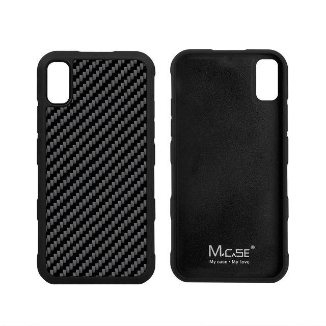 Real Carbon Fiber Case Cover for iPhone X