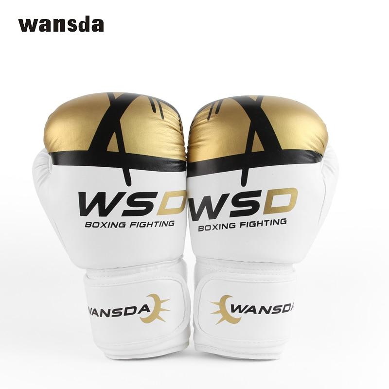 HIGH Quality Adults Women/Men Boxing Gloves MMA Muay Thai Boxe De Luva Mitts Sanda Equipments8 10 12 14 6OZ fitness