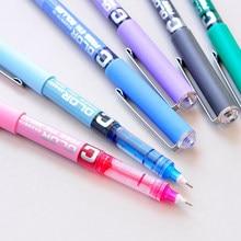 CHENG PIN 7Pc 0.38mm aiguille Simple Style droite liquide Gel stylo fluide couleur écriture pilote haute qualité bureau écriture papeterie