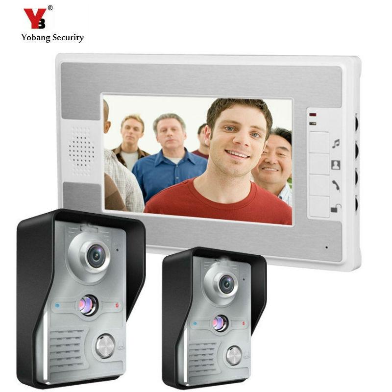 Yobang Security freeship Video Door Phone Intercom Touchscreen 7Color Video Door Bell Video Intercom Phone door bell interfone video devices pix e7 7 touchscreen display power cord