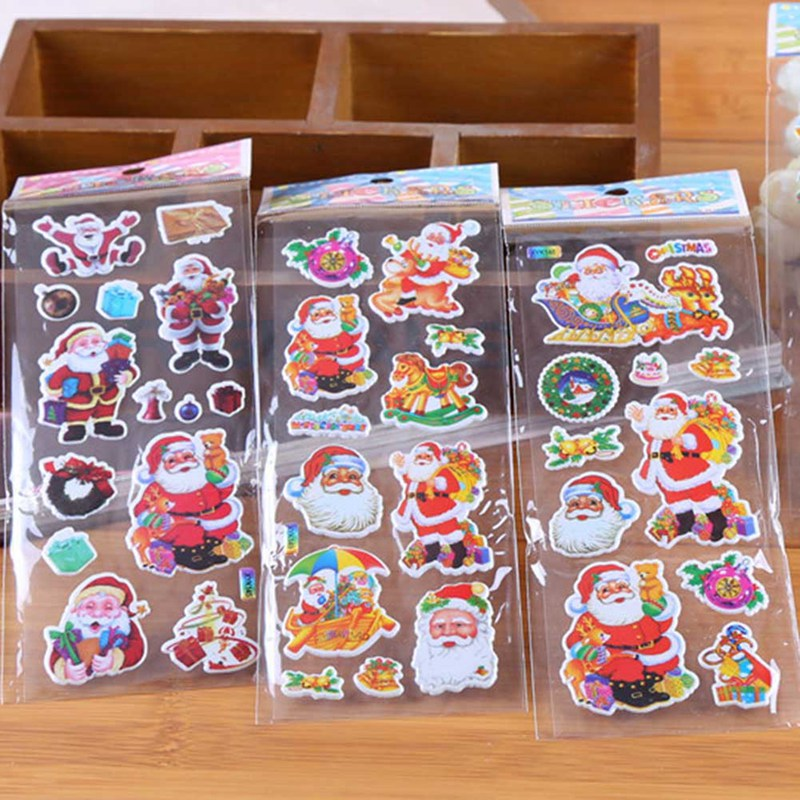 Christmas Gifts Merry Christmas 3D Carton Bubble Sticker Santa Claus Puffy Stickers Happy New Year Xmas Decor For Kids RandomChristmas Gifts Merry Christmas 3D Carton Bubble Sticker Santa Claus Puffy Stickers Happy New Year Xmas Decor For Kids Random