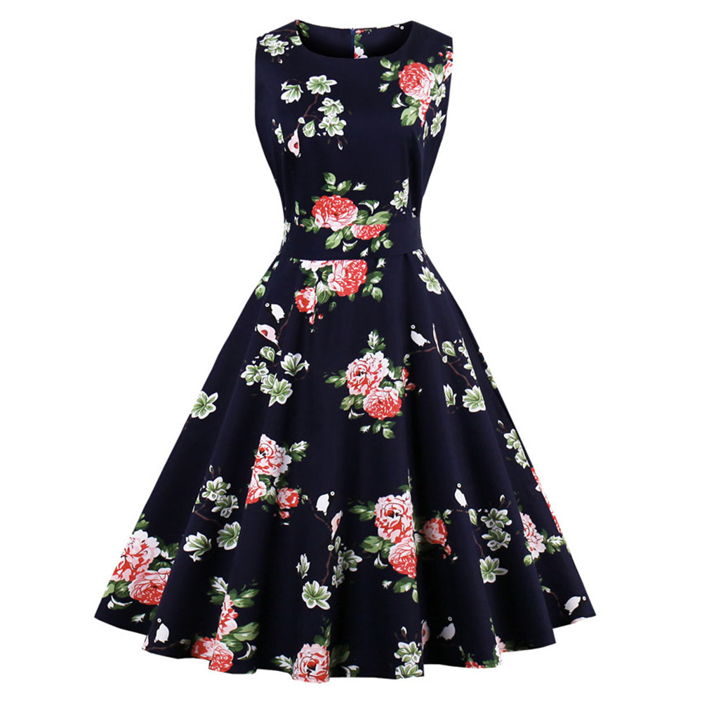 f956f5978c012 Товар Kenancy Plus Size 4XL Women Retro Dress 50s 60s Vintage ...