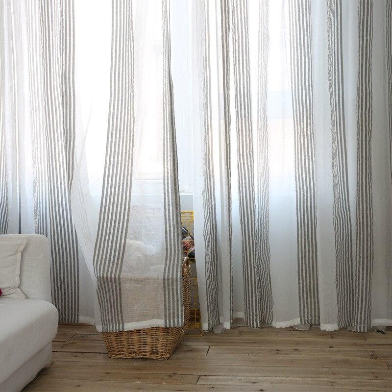 Nordischen Stil Wind Minimalist Sheer Voile Vorhang Für Wohnzimmer  Schlafzimmer Arbeitszimmer L002D In Nordischen Stil Wind Minimalist Sheer  Voile Vorhang ...