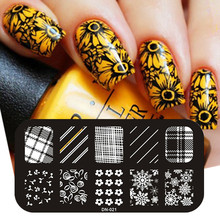 Candy Lover Flower Theme Nail Art Stamp Template Image Plate Rctangular Stamping Plates 12cm*6cm Nail Konad Stamp Perfect Summer konad печатная форма диск image plate m41