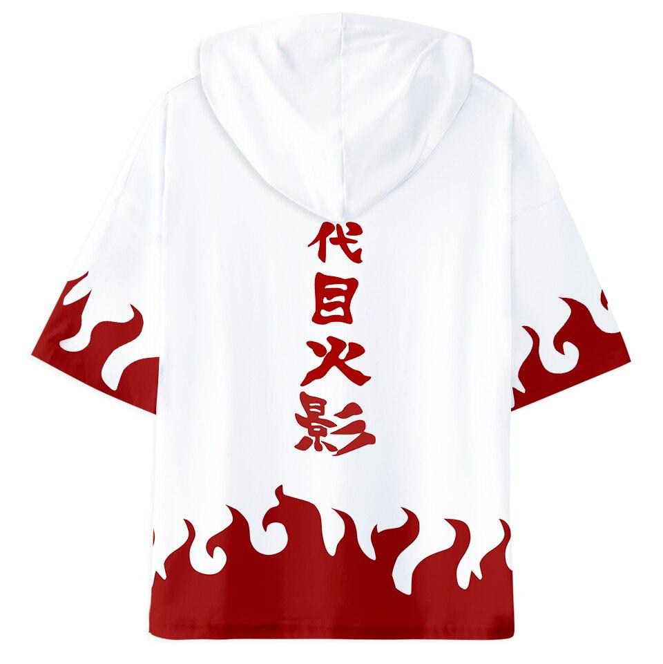 3D Naruto Uzumaki Harajuku Hooded T Shirt Boys And Girls Cartoon Print Tshirt T-shirt Short Sleeve Cosplay T Shirts Tops Clothes