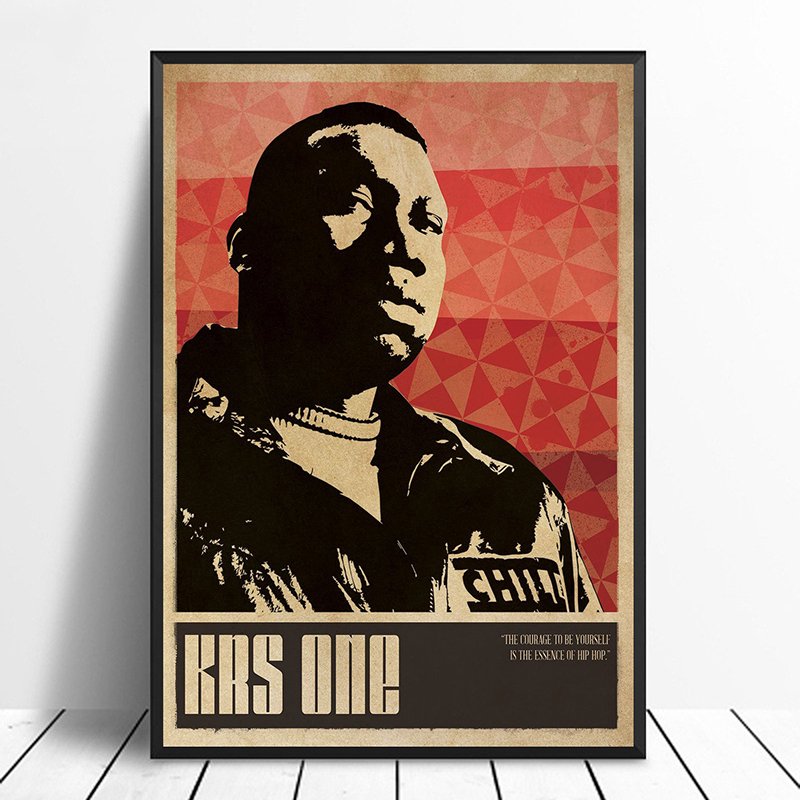 CANVAS KRS-One 2 Art print POSTER