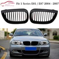 E81 E87 1 slat ABS Plastic Grille Mesh for BMW 1 Series E81 E87 2004 2007 Hatchback Matte Black Front Bumper Grille