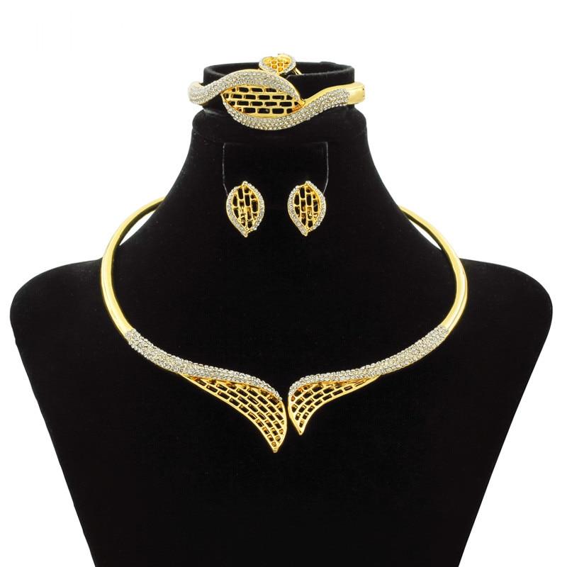 adbd0f3f65ae ᐅ2018 Дубай золото Роскошные украшения аксессуары бренд невесты ...
