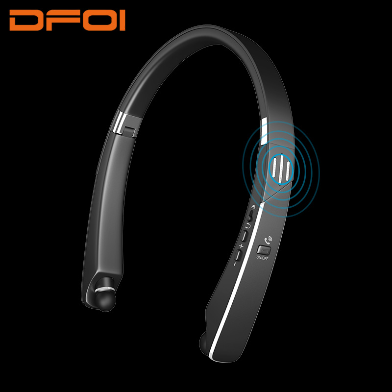 DFOI wireless headphone speaker bluetooth speaker eaphone bluetooth headphones retractable earbuds foldable with mic for iphone цена и фото