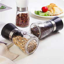 Ceramic Core Sesame Pepper Grinder Glass Seasoning Bottle
