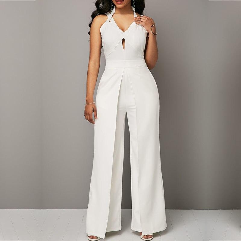 Sexy white suspenders lace mini jumpsuit dress ps
