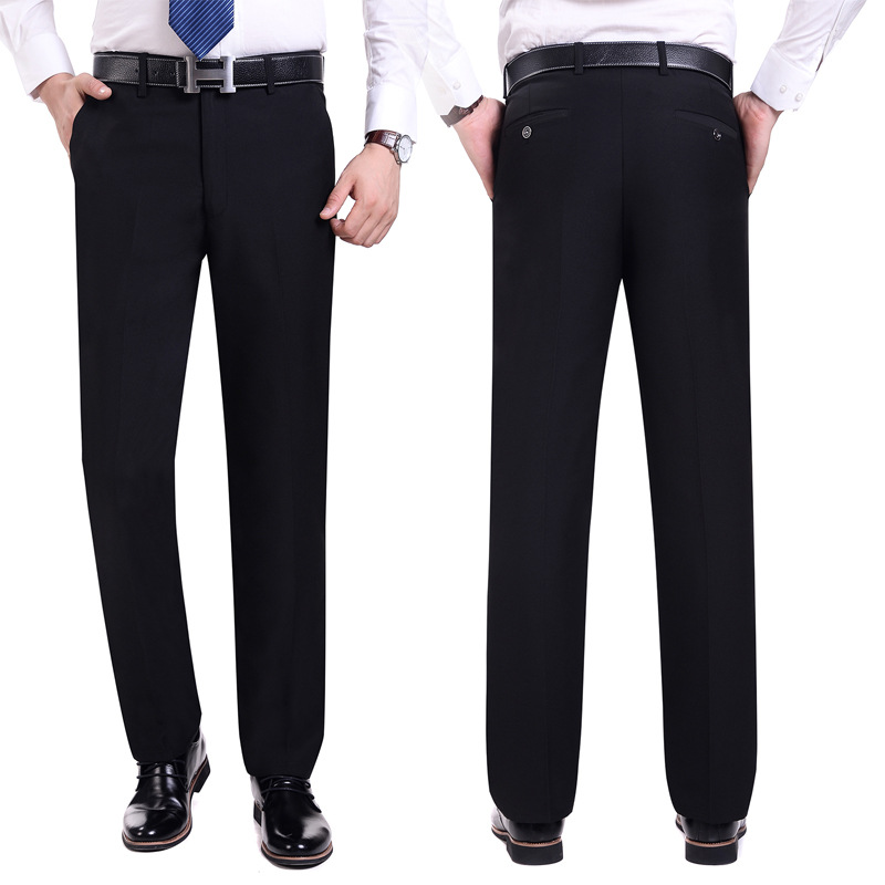 Anzug Hosen Männer Mode Kleid Hosen Social Mens Dress Hosen Schwarz - Herrenbekleidung - Foto 4