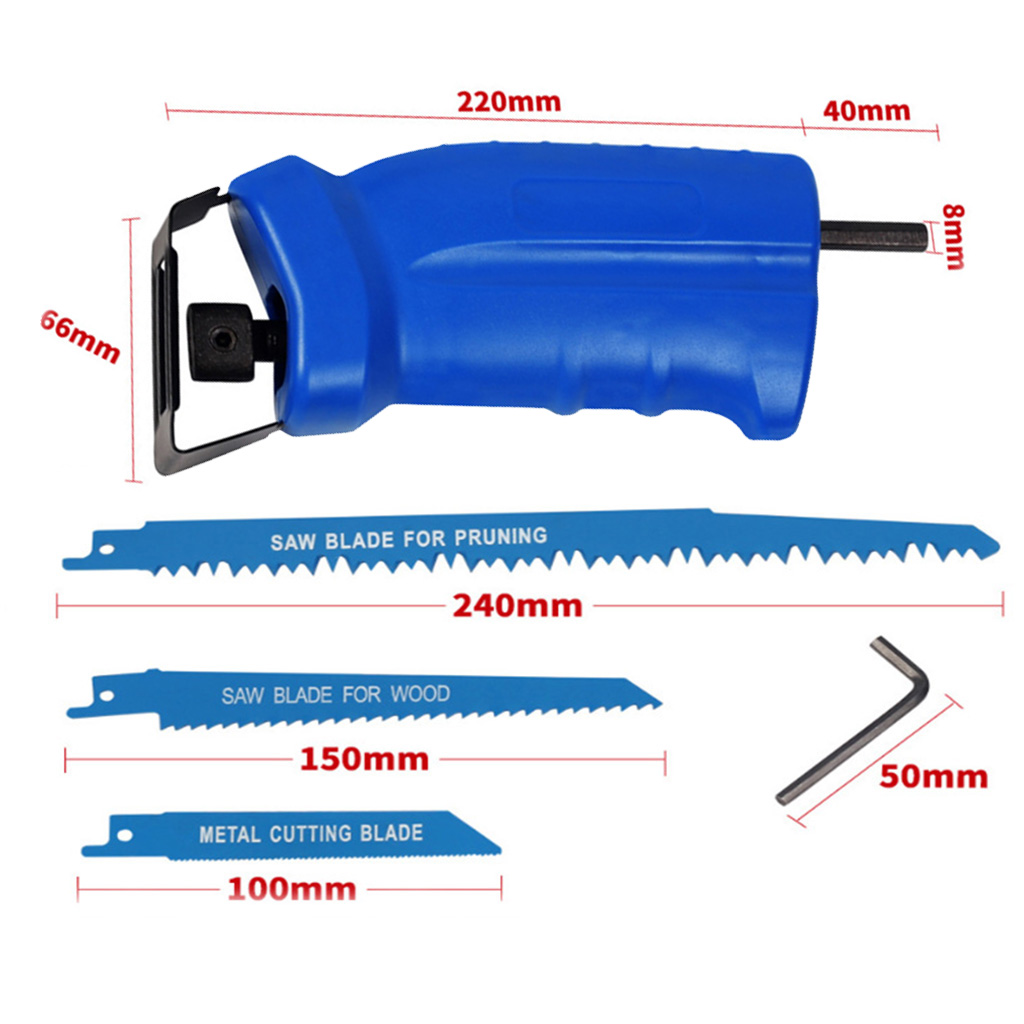 Compact Reciprocating Saw Adapter Set Changed Electric Drill Into Saw