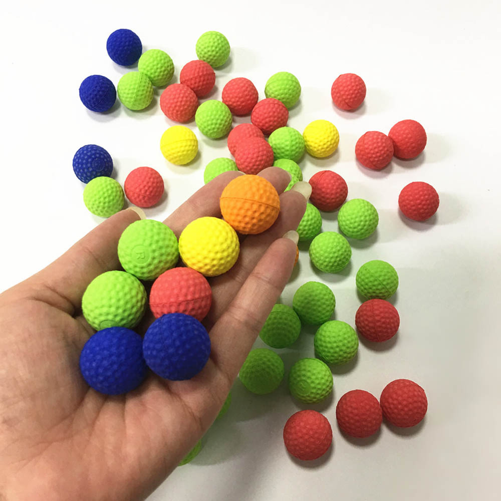 100pcs 2.2cm Colorful Balls Golf  EVA Foam Soft Bullet Balls For Nerf Rival Zeus Apollo Refill Toys