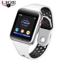 LIGE New Wristband Bluetooth Smart Watch Sport Pedometer With SIM Camera Smartwatch For Android Smartphone Men Fashion