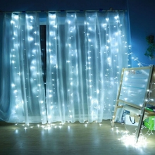 3×1/3×2/3×3/6x3m led icicle curtain Waterproof fairy string light Christmas light for Wedding home garden party decor lamps