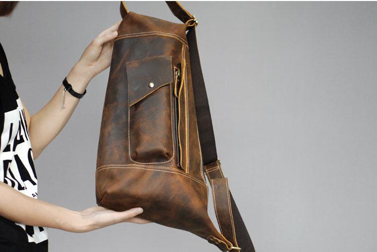 vintage do cavalo louco bolsa bolsa de