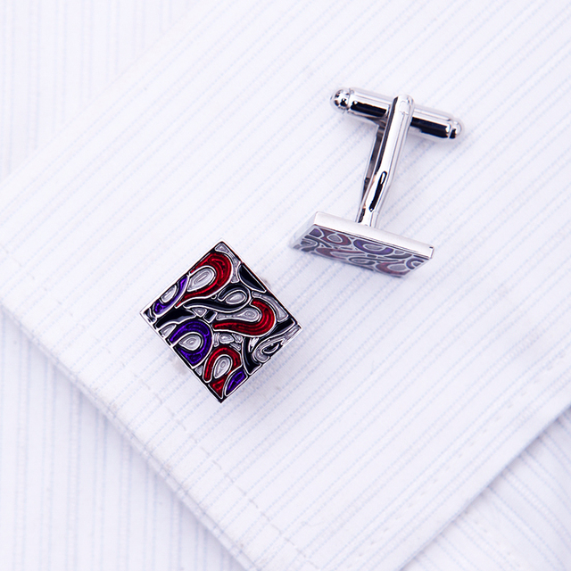 Kflk Jewelry Shirt Cufflink Mens Cuff Links Designer French Button High Red Wedding Male