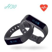 100% Оригинальные H30 H10 Смарт Браслет OLED Дисплей Bluetooth 4.0 монитор сердечного ритма сна трекер для Android IOS PK Ми Группа 2