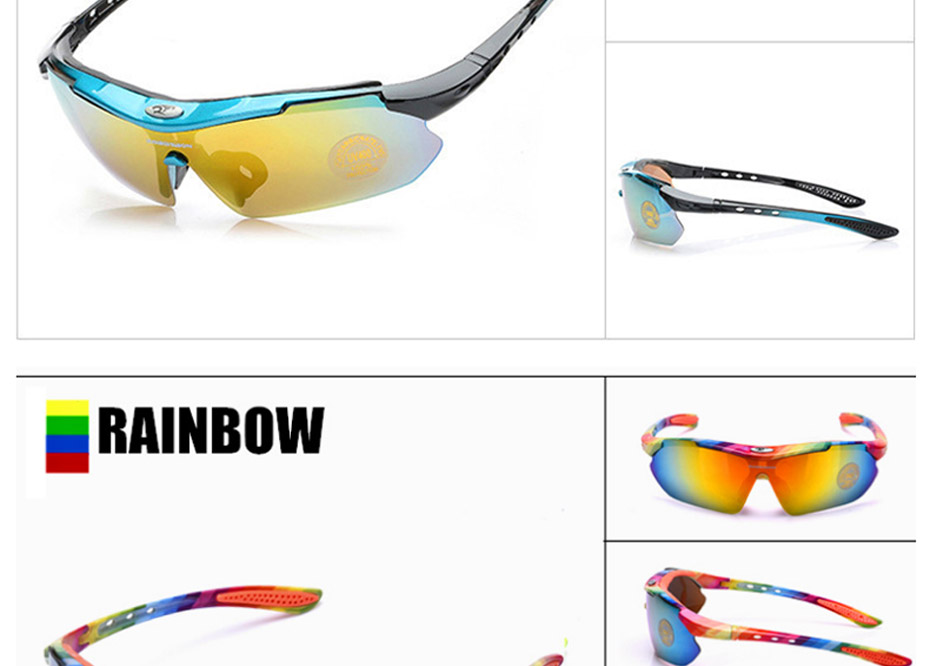 2020 Polarized Cycling Glasses Eyewears 3 Lens Uv400 Mountain Road Bicycle Glasses Mtb Running Fishing Sunglasses Eyewear