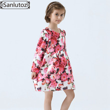 Girls Dress Winter Children Clothing Brand Kids Clothes Party Flower Dress for Princess Holiday Spring Wedding