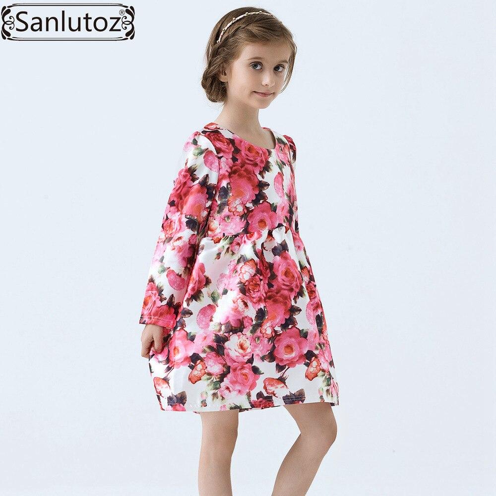 d6ab9a3ec Niñas vestido invierno niños ropa marca niños ropa Flor del Partido para la  princesa Holiday boda de primavera del niño del bebé