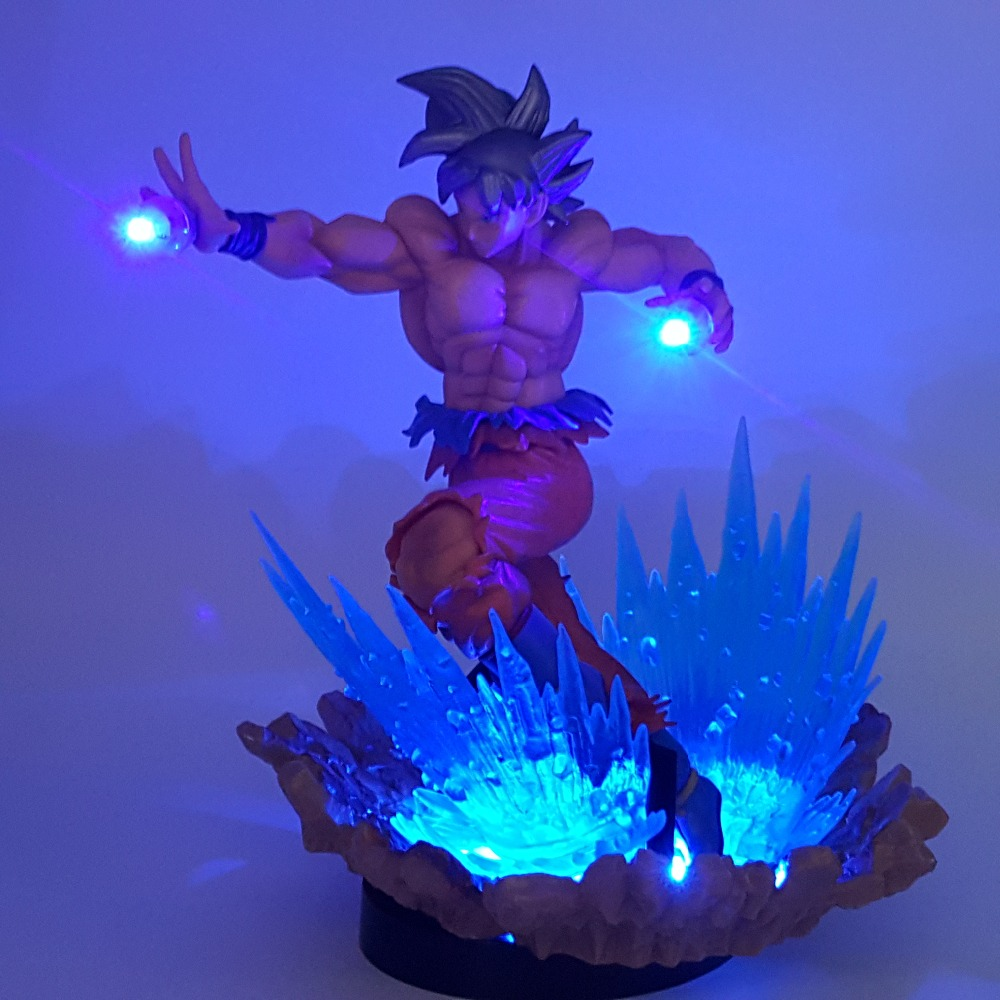 Dragon Ball Son Goku Ultra Instinct Led Night Lights Desk Lamp Dragon Ball Z Goku Key Of Egoism Led Lamparas Nightlight