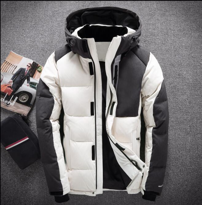 2017 Men Winter Jacket White Duck Down Parka High Quality Winter Coats Hooded Goose Feather Men's Down Jacket Thick Snow Coat купить