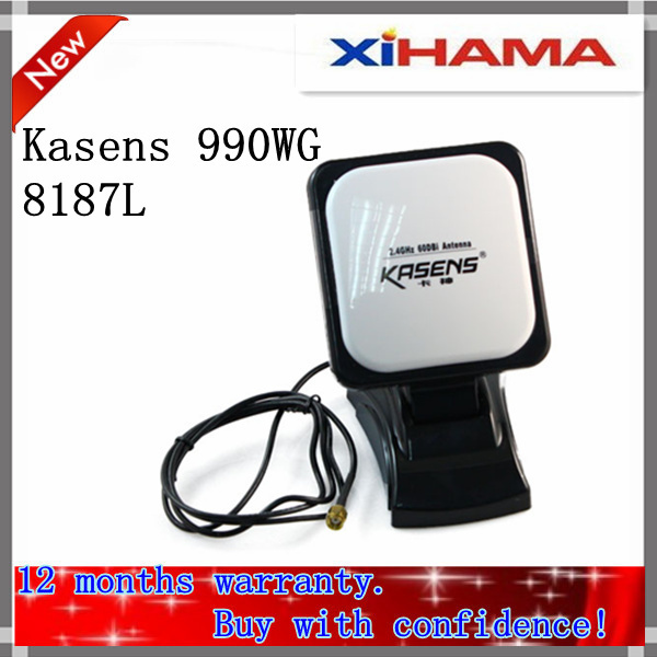 2012 New Kasens 990WG 60DBI panel Antenna 8187L Chipset SMA connector  54Mbps 6000mW  Wireless USB Wifi Adapter Free Shipping