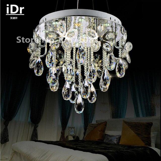 US $536.0 |Rotondo pendente di cristallo Lampadari moderni camera da letto  minimalista salotto creativo di illuminazione Di Lusso lampada ...